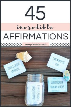 Positive affirmations for kids. Free printable affirmation cards! #counseling #parenting #copingskills #affirmations