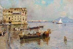 ATTILIO PRATELLA - Nápoles Óleo sobre tela - 30 x 44,5