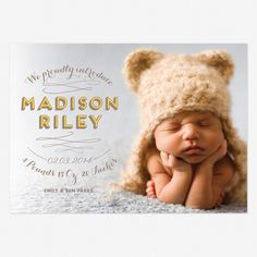 Madison Riley Birth Announcement from lovevsdesign - adorable!