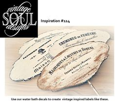 The Vintage Soul Inspiration idea #114. Oh the things you can do with our water-bath decals and chalk-based paint.