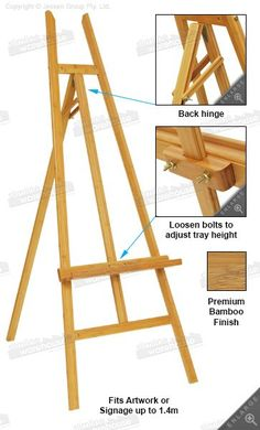 Art Easel (I asked my dad to make me an art easel for my birthday just like this one. The only difference is that this one is made from bamboo .I'm going for a much cheaper version using pine.) #WoodworkingProjects