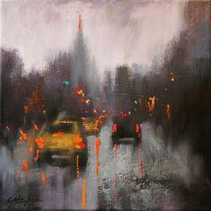 "Saatchi Art Artist Chin h Shin; Painting, ""Entering New York"" #art"