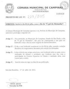 """Blog Paulo Benjeri Notícias: Em Campinas, vereador propõe projeto """"É gol da Ale..."""