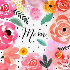Margaret Berg Art: Pink Border Blooms: Mom