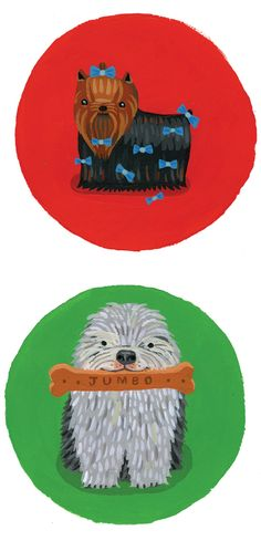 Dogs, Dogs, Dogs! by Aaron Meshon, via Behance