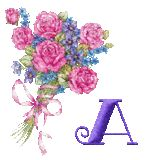 Alfabeto ramo de rosas.   Oh my Alfabetos!