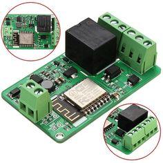 ESP8266 10A 220V Network Relay WIFI Module Input DC 7V~30V Sale - Banggood Mobile