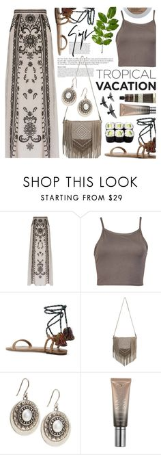 """""""Tropical Vacation"""" by noviii ❤ liked on Polyvore featuring Temperley London, Isabel Marant, MANGO, Anja, Lucky Brand, Urban Decay, Giuseppe Zanotti and L'Oréal Paris"""