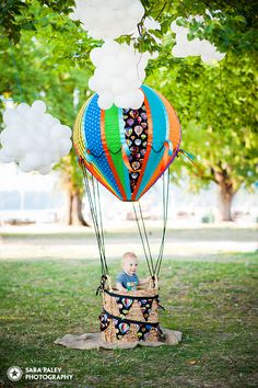 Kits beach Vancouver, baby's first birthday, hot air balloon. Hot air balloon is available for rent!