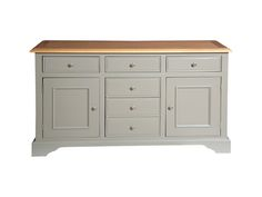 A classic, timeless piece of furniture in fashionable grey.  It would suit so many rooms.  (Hartham large sideboard in grey)