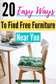 Did you know that there are tons of ways to actually find free furniture near you?  There are ways for you to save money on the cost of furniture by actually getting it for free! Dresser Ideas, Retirement Planning, Ways To Save Money, Frugal Living, Saving Money, How To Get, Easy, Free, Furniture