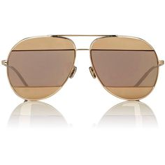 """Dior Women's """"Dior Split 1"""" Aviator Sunglasses ($555) ❤ liked on Polyvore featuring accessories, eyewear, sunglasses, multi, mirror aviator sunglasses, clear aviator glasses, clear lens glasses, mirrored aviators and aviator sunglasses"""