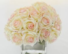 Real Touch Roses Arrangement with Artificial Rose Buds от flovery