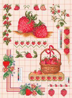 Gallery.ru / Фото #41 - 265 - Mosca Cross Stitch Fruit, Cross Stitch Kitchen, Cross Stitch Love, Beaded Cross Stitch, Cross Stitch Borders, Cross Stitch Charts, Cross Stitch Designs, Cross Stitching, Cross Stitch Embroidery