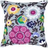 Found it at Wayfair - Gray and Raspberry Decorative Pillow