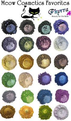 Happy Birthday Meow Cosmetics! Save 25% with the coupon code Whirlwind, good through August 7, 2014. Over 841 Eyeshadow colors and 89 foundation shades! See swatches of all the collections at www.Phyrra.net