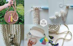 Marvelous Crochet A Shell Stitch Purse Bag Ideas. Wonderful Crochet A Shell Stitch Purse Bag Ideas. Purse Patterns, Crochet Patterns, Leather Bag Pattern, Crochet Abbreviations, Crochet Shell Stitch, Round Bag, Crochet Handbags, Love Crochet, Crochet Summer