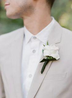 Simple Boutonniere on Groom's Gray Wedding Suit Lapel Wedding Story, Wedding Day, Topanga California, Grey Suit Wedding, Red Photography, November Wedding, Seasonal Flowers, Gray Weddings, Maid Of Honor