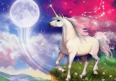 Tatiana Doronina Art, Russia Unicorn Pictures, Creation Photo, Beautiful Unicorn, Animation, Beautiful Creatures, Picture Photo, Zodiac Signs, Fairy Tales, Beast