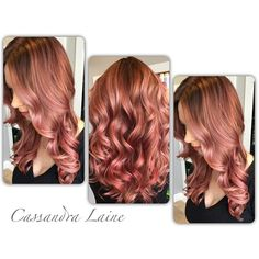 So in love with this color! I played with multiple rose formulas in a hand painted organic placement all Paul Mitchell Shines XG