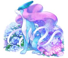 Suicune ♡ This is Beautiful ♡ I give good credit to whoever made this