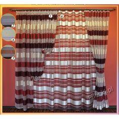 Elegancka #firana_z_organzy Elegancka firana z organzy z kolorowymi i matowymi pasami.  Gotowa firana od razu do zawieszenia na karnisz, posiada wszyta taśmę marszczącą i lamówkę.   Wymiary: Szerokość: 290 cm ( po zmarszczeniu użytkowe 200 - 240 cm ) Wysokość: 250 cm  kasandra.com.pl