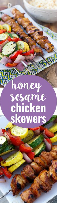 Honey Sesame Chicken Skewers! An unbelievably delicious marinade!