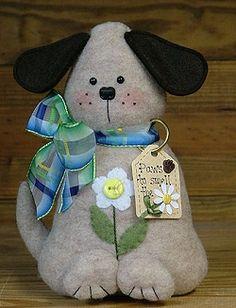Puppy Paws - Wool Felt, Felt Appliqué Countryside Craft PATTERN