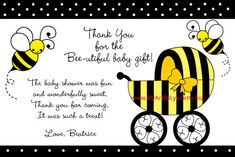 Bee Baby Shower - My Art by Lynnette Cheyenne- Are you going to send out Thank You Cards???