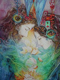 """""""Twin Souls (zoom 2)"""" par Helena Nelson-Reed"""