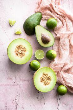 ... avocado + melon + lime sherbet ... #recipe