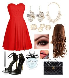 """""""Christmas Dance 2K15"""" by barbiecar ❤ liked on Polyvore featuring Forever 21, Kate Spade, NARS Cosmetics, Chanel and Fiebiger"""