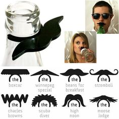 mustache for your drink