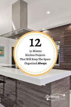 Twelve 15 Minute Kitchen Projects That Will Keep The Space Organized Always Kitchen Cupboards, Diy Kitchen, Kitchen Ideas, Pantry Organization, Organizing, Declutter Your Home, Storage Solutions, Storage Ideas, Getting Organized