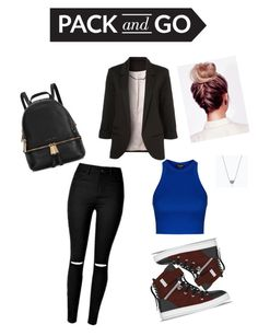 """Untitled #44"" by fidanalekberova ❤ liked on Polyvore featuring Michael Kors, WithChic, Topshop and SWEAR"