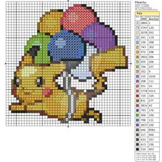 Pokemon - Pikachu with Balloons by Makibird-Stitching.deviantart.com on @DeviantArt