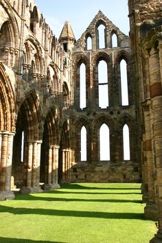 Whitby Abbey Ruins 6 by FoxStox on DeviantArt Yorkshire England, North Yorkshire, Whitby England, Yorkshire Dales, England Uk, Europe Travel Tips, Time Travel, Places Around The World, Around The Worlds