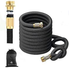Garden Hose 75FT Expandable Water Hoses Water Garden, Garden Hose, Water Hose, Garden Chairs, Amazing Gardens, Latex, Lawn Chairs, Outdoor Chairs, Garden Seating