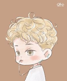 Lucky One - Kai Fanart Cr: Chii___iihc Exo Lucky One, Exo Cartoon, Kai Arts, Exo Anime, Exo Album, Exo Fan Art, Kpop Drawings, Cute Chibi, Kpop Fanart