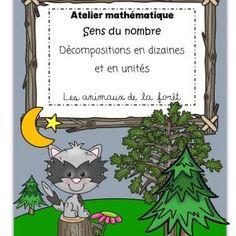 Ateliers-Mathématiques-Décomposition-dizaines-unités-Animaux de la forêt-Caroline Gingras Créations Maths, Lego, Creations, Writing, Reading, Homework, Products, Atelier, Reading Books