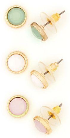 Pretty #pastel round earrings http://rstyle.me/n/bhyxyr9te