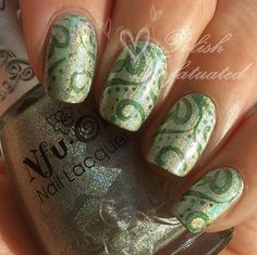 FROM 'Polish Infatuated' bloglovin' blog Holo on holo stamping <3<3<3 @