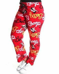 BETTY BOOP * RED FURRY FLEECE * DRAWSTRING PAJAMA PANTS * 2x/3x MSRP $34.99 NWT