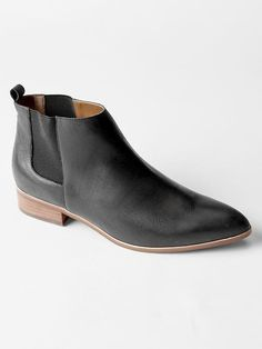 $80, Gap Leather Chelsea Booties. Sold by Gap. Click for more info: https://lookastic.com/women/shop_items/311892/redirect