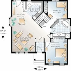 Small House Plan With Open Floor Plan