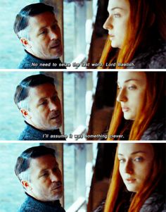Baelish and Sansa Game Of Thrones Quotes, Game Of Thrones Funny, Valar Dohaeris, Valar Morghulis, Winter Is Here, Winter Is Coming, Game Of Thrones Instagram, Got Memes, Funny Memes
