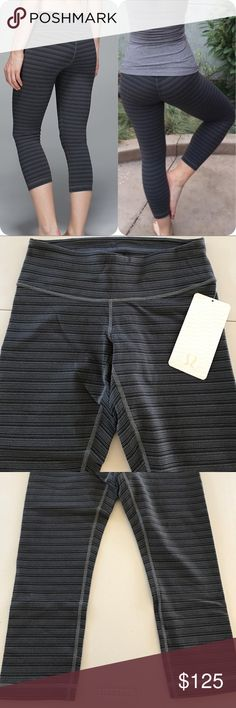 NWT LULULEMON WUNDER UNDER CROP II TSSD -- Size 6 Brand: Lululemon Athletica wunder under crop II   Condition: New with tag || Size 6 || TSSD texture stripe deep coal    🚩NO TRADES  🚩NO LOWBALL OFFERS  🚩NO RUDE COMMENTS  🚩NO MODELING  ☀️Please don't discuss prices in the comment box. Make a reasonable offer and I'll either counter, accept or decline.   I will try to respond to all inquiries in a timely manner. Please check out the rest of my closet, I have various brands. Some new with…