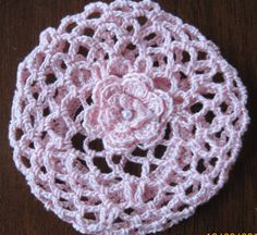 Crochet Bun Cover Snood Ballerina Ballet Dance pink small Under $10