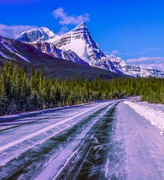 icefield parkway skating rink drive - the icefiled parkway was icy like a skating rink. My Jeep almost skidded out of control here on this winter day. I saw 5 cars in of driving out here so its fairly isolated in winter but beautiful. Skating Rink, Winter Day, Rocky Mountains, Skate, Cool Pictures, Travel, Jeep, Beautiful, Cars