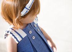 Vestido vaquero azul Pili Carrera. Estilo marinero primavera verano 2015